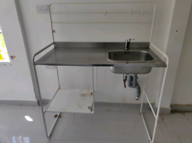IKEA kitchen with sink tap garage out house