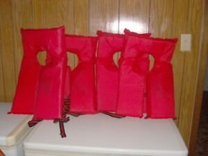 4 adult life vests