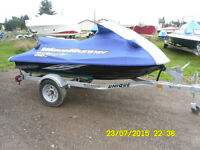 2009 yamaha waverunner w galvanized trailer