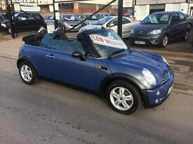 2005/55 Mini One 1.6 2dr Convertible ONLY 62946 Miles £3695