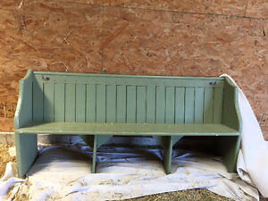 painted church pew