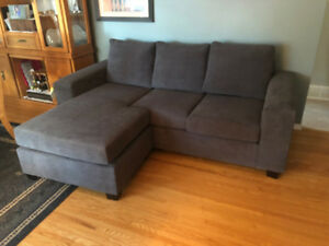 Couch (love seat + chaise lounge) - Brand New