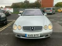 2001 51 MERCEDES CL500 COUPE 5.0 V8 AUTO IN SILVER.RECENTLY SERVICED.MOT 08-22 .