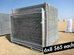 New Fence Panels 6x9.5''Construction Steel Wire Fast Fence