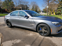 "Bmw 750 20"" Staggered rims with newer tires"