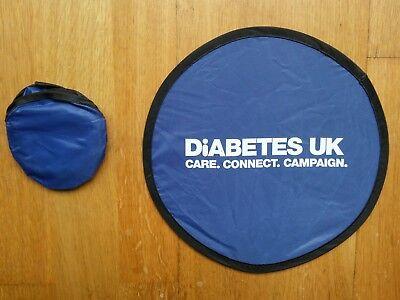 "FRISBEE diameter 24cm Promotion Slogan  ""DiABETES UK"" NWOT (9 Available)"