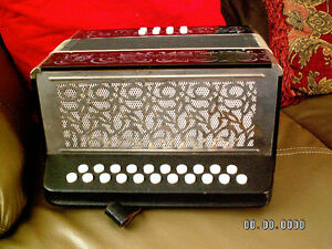 G/C Accordion Serviced/Restoration  accordeon  accordian