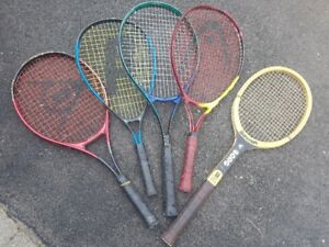 Tennis rackets, suitable for play or display