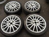 "17"" ford alloy wheels alloys rims tyres 4x108 fiesta ka focus escort Orion bargain"