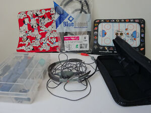 Mouse pads, cable, headset, tech box and case