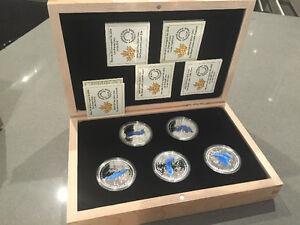 Royal Canadian Mint Coin set - Great Lakes 5x 1oz. Coins