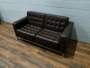 Free delivery: Real Leather Loveseat