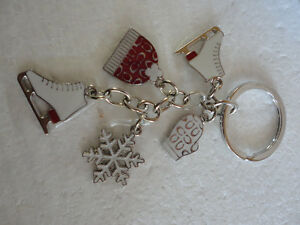 Brand new Coach keychain keyring skates mitts gloves  charms London Ontario image 1