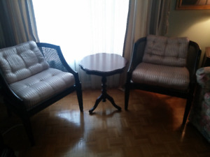 Cane  chairs in mint condition