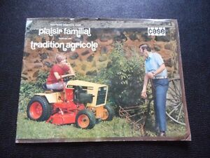 Brochure de Collection pour Tracteur Jardin JI CASE Antique 1970