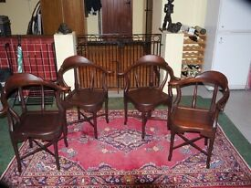 Card table chairs in hardwood
