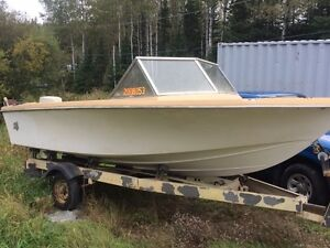 Estate Sale! 16' Fiberglass Chestnut w/ 55hp Johnson and Trailer