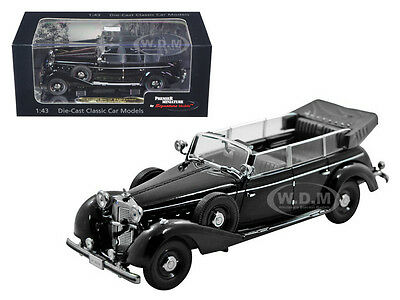 1938 MERCEDES 770K PARADE CAR BLACK 1/43 DIECAST CAR BY SIGNATURE MODELS 43700 43 Black Diecast Car