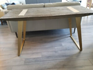 Rustic Charm   Modern Glam Table or Desk
