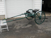 Wooden Wheel Cart