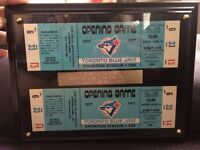 Unused opening day blue jay tickets