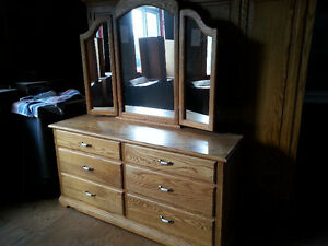 Solid Oak dresser and wardrobes custom made