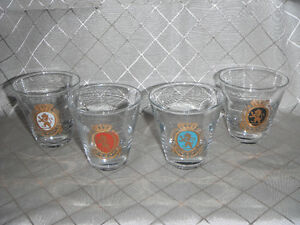 1950's Federal Glass Baronet Cocktail Glasses.