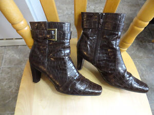 Leather Dressy Boots - 1 Pair Black & 1 Pair Brown - $12.00 each