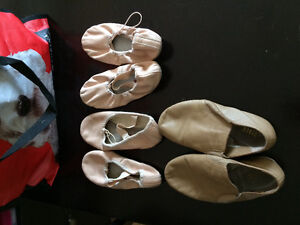 Ballerina slippers and jazz shoes