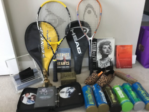 Tennis Racquet+Balls. Collectable I Love Lucy Book. Etc
