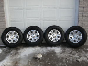 OEM GMC/Chev alloy wheels with winter tires