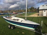Laser 13 sailing dinghy