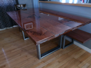 Epoxy Knoty Pine Dining Table