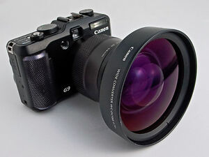 Canon G9 wide angle lens and adapter.