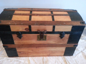 Large Antique Refinished Trunk