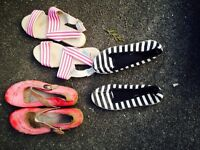 Various shoes . Two size 6 and Two size 4.