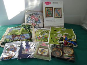 9 Stitchery and Needlepoint kits