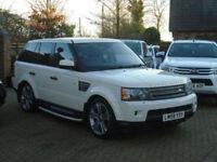 2009 59 Reg Land Rover Range Rover Sport 3.6TD V8 Auto HSE ( Facotry White )