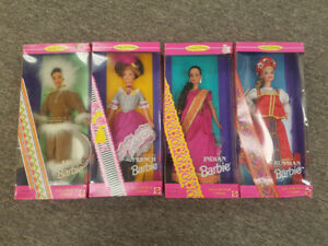 Dolls of the World collectible barbies