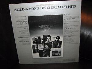 (LP) NEIL DIAMOND -- HIS 12 GREATEST HITS Regina Regina Area image 2