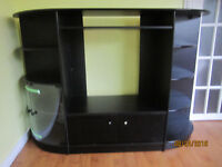 Black TV/ Entertainment Stand with Shelving ~ MUST SEE