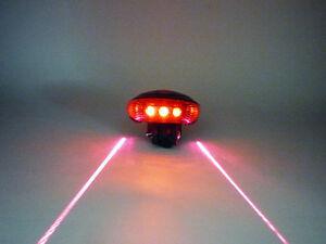 5 LED & 2 Laser Safety Bicycle Rear Light