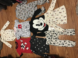 12-18 month Mickey mouse clothes bundle