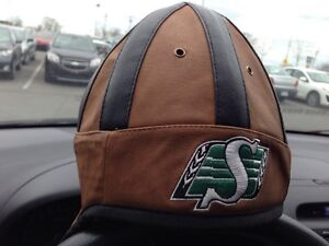 Faux leather cfl novelty helmet cap