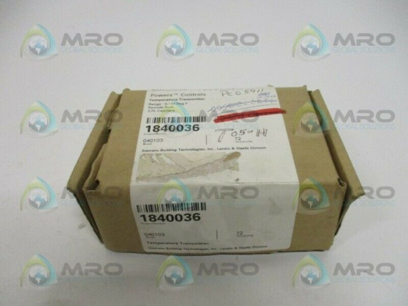 SIEMENS 184-0036 1840036 TEMPERATURE TRANSMITTER 0-100F *NEW IN BOX*