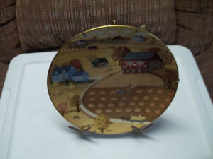 """Royal Doulton """"Pumpkin Patch"""" Collector Plate By C.A.Brown."""