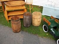three old Nail Kegs - OLD FARM ESTATE FINDS