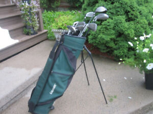 Men's Right Hand 14-pc Golf Clubs Set (Various) & Golf Stand Bag