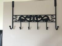 Wrought iron over-the-door hanger