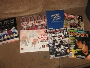 Mixture of NHL books 1980's 1990's